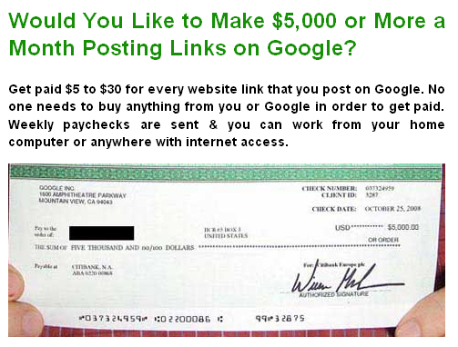 Internet Marketing Scams
