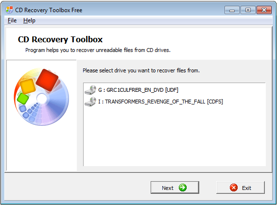 Recovery Toolbox for CD - FREE