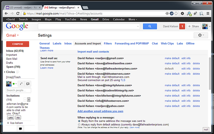 Send Gmail with different email address